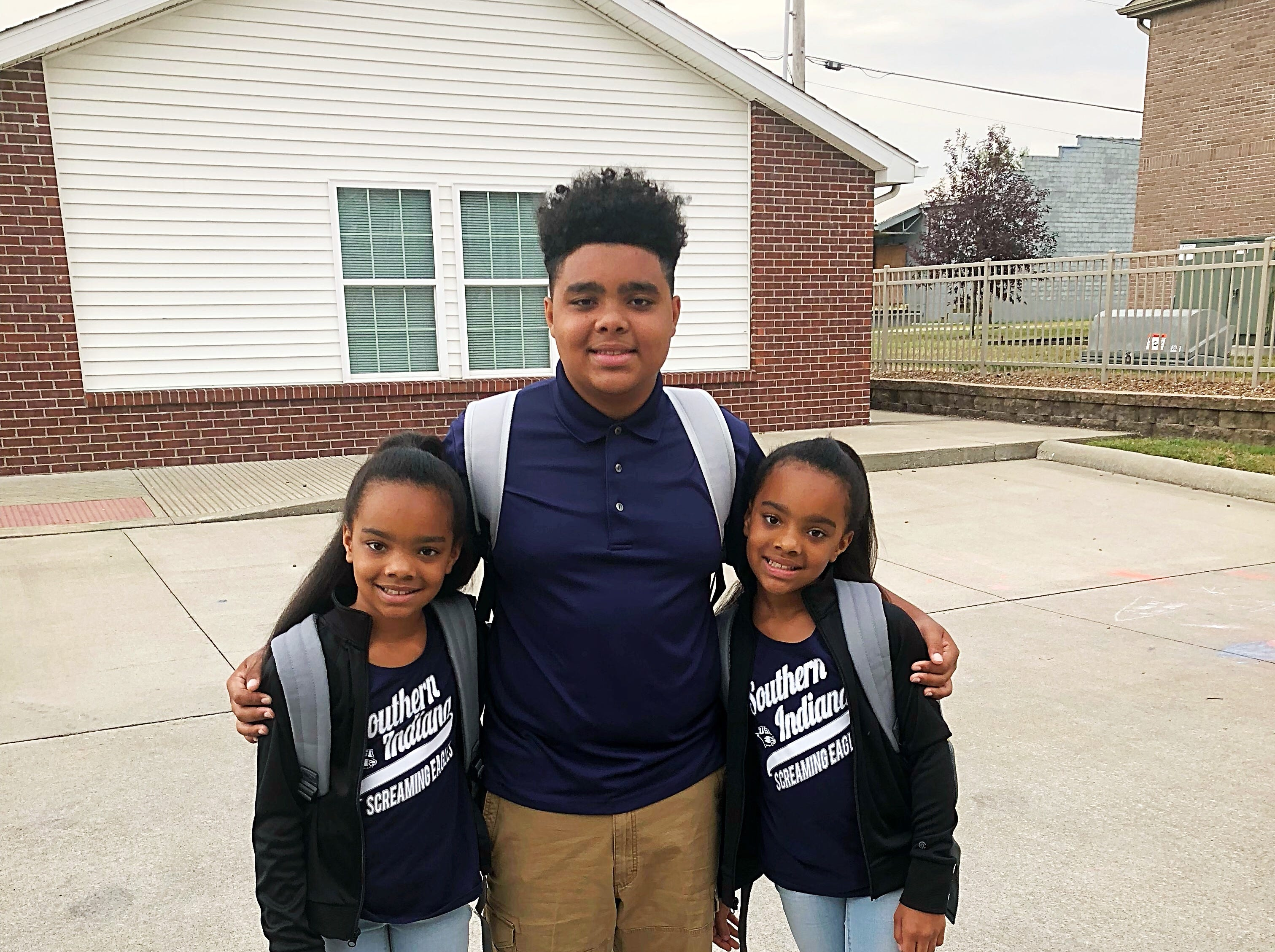 Jayden Wisdom 7th grade at Thompkins Middle school and Aliyiah and Breionah Littrell 4th grade at Highland Elementary School