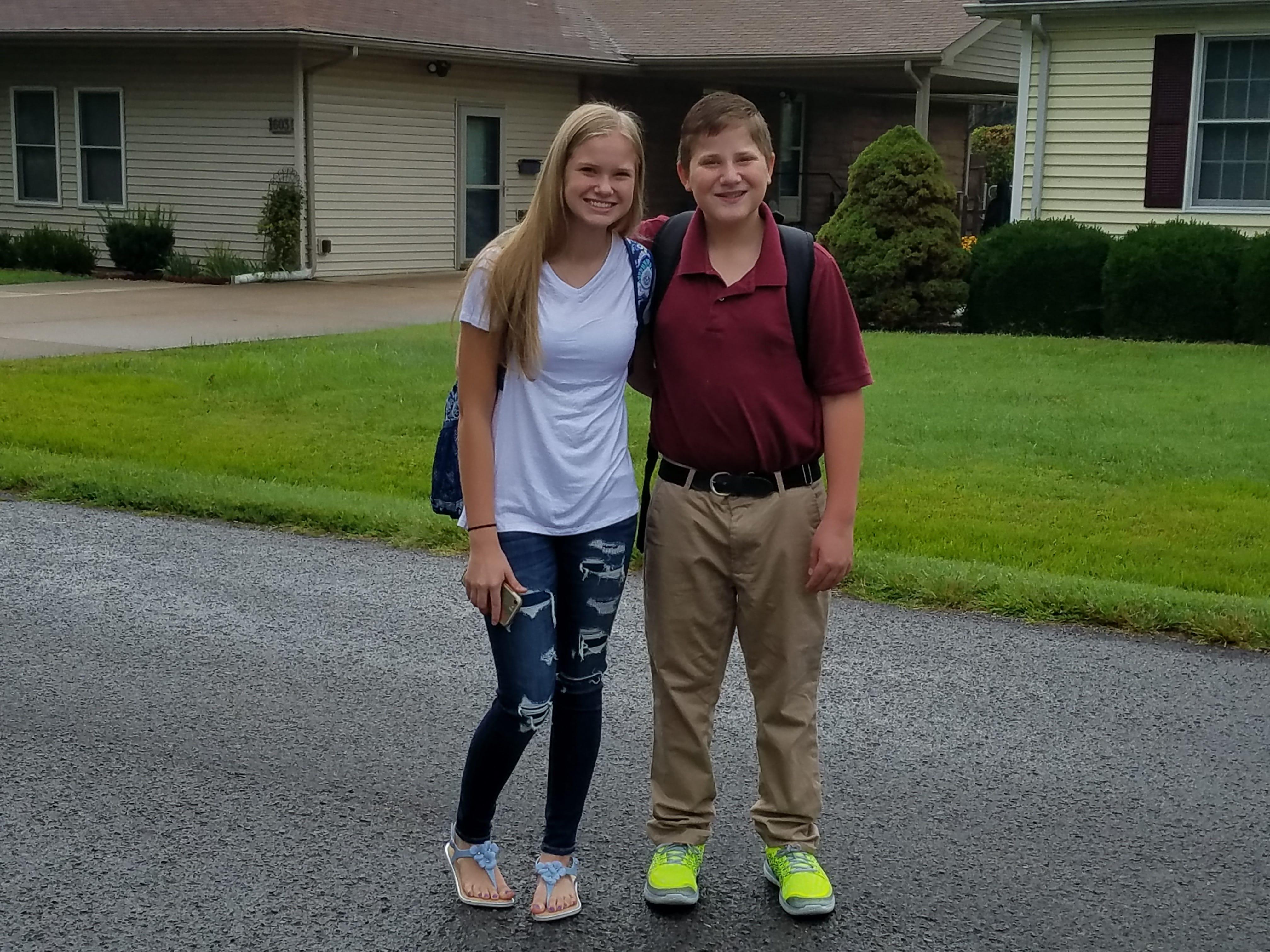 Breezie Trodglen - freshman, Leighton Trodglen - 8th grade
