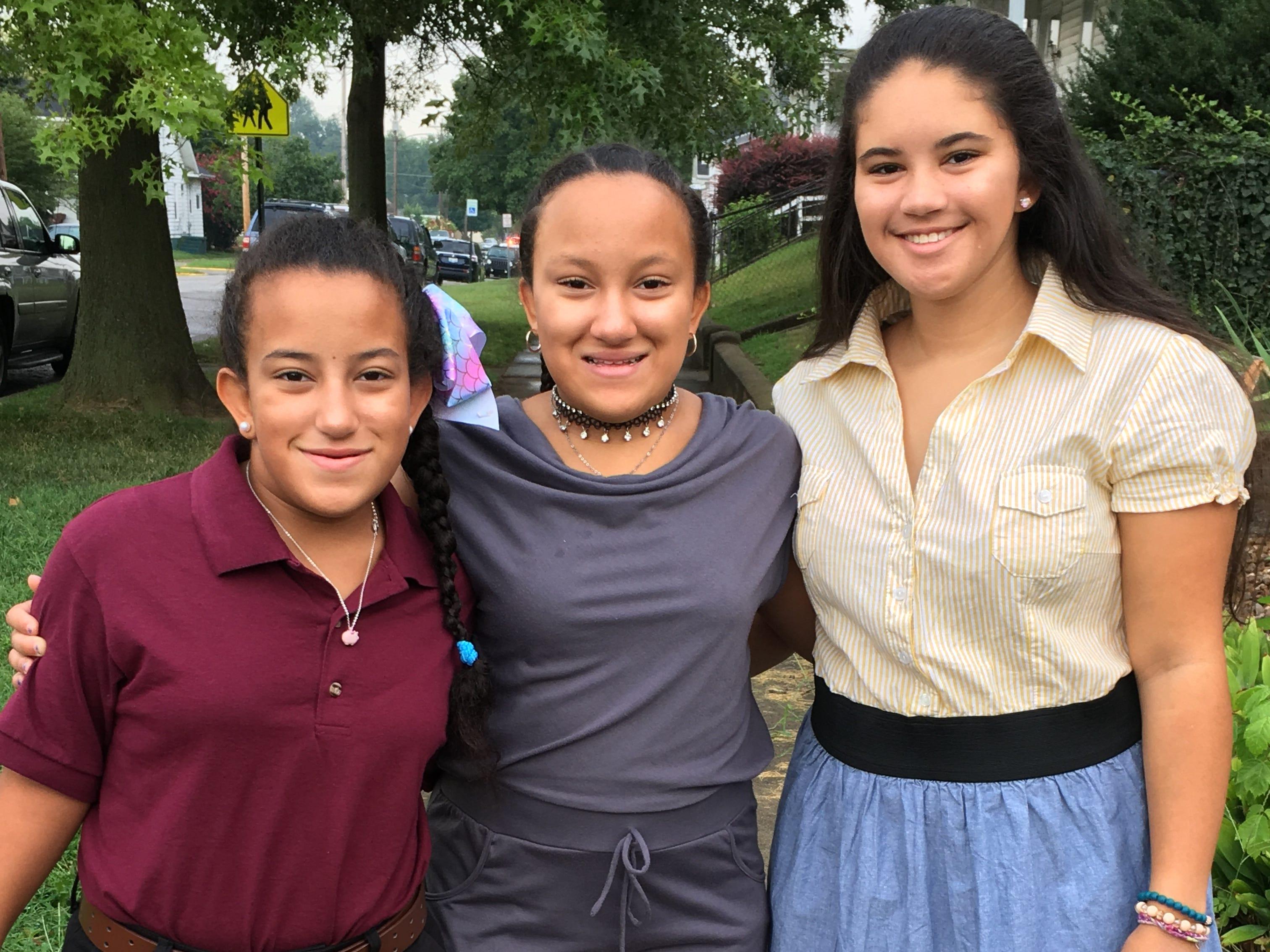 Alexis Purdy, kindergarten aide. Kaleigh Purdy, sophomore. Miranda Purdy, seventh grade