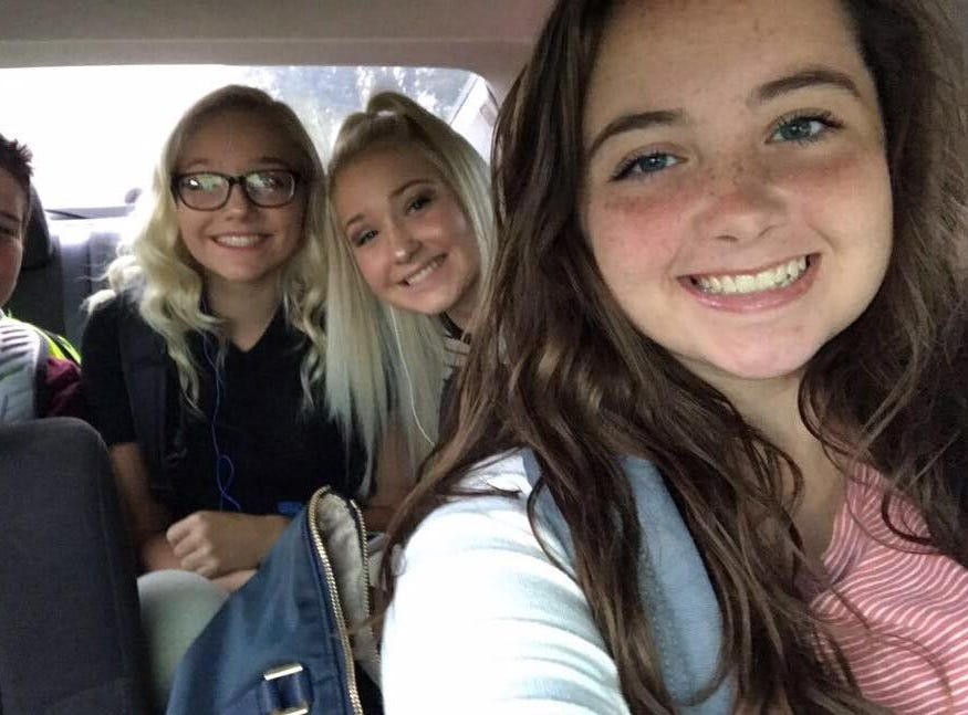 In the car on the way —momma forgot; DannyBlack 8th, MadilynnMitchell 8th, LaurenMitchell 11th, and AbbyAlexander 11th.