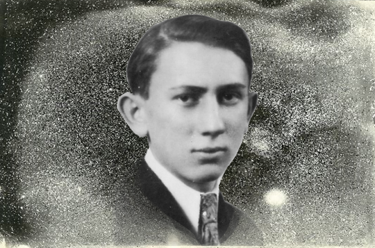 An illustration of Joseph Halpern shows him with a starry background he drew himself. Halpern was finishing up his doctorate degree in astronomy at the time of his disappearance.
