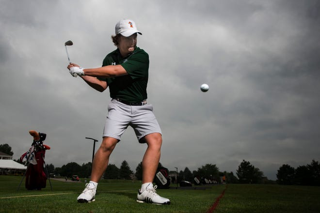 Fossil Ridge's Dillon Stewart, shown in a portrait earlier this season, is third after the first day of the state golf tournament.