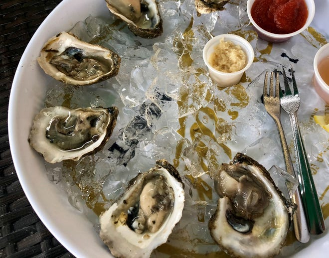 Blue Point oysters are available daily at Cape Harbour Oyster Bar in Cape Coral.