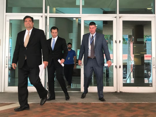First day in court for Fort Myers toxic sludge case.