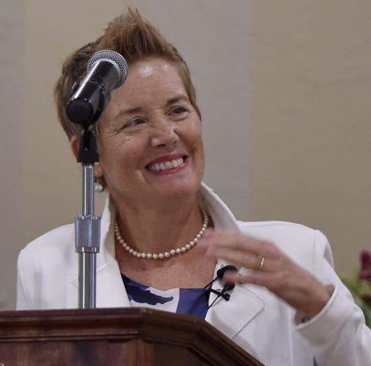 Tuti Scott was keynote speaker of the Women's Fund of Door County's annual luncheon on Aug. 8, 2018.