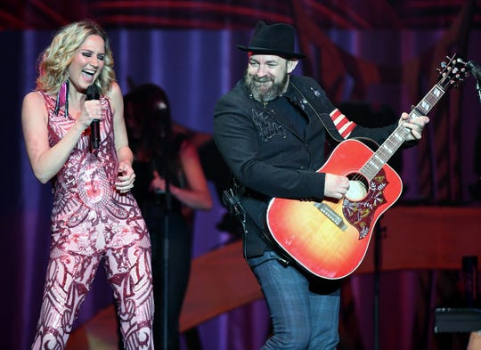 Jennifer Nettles and Kristian Bush of Sugarland are on their Still the Same Tour, which stops Saturday at the Resch Center in Ashwaubenon.