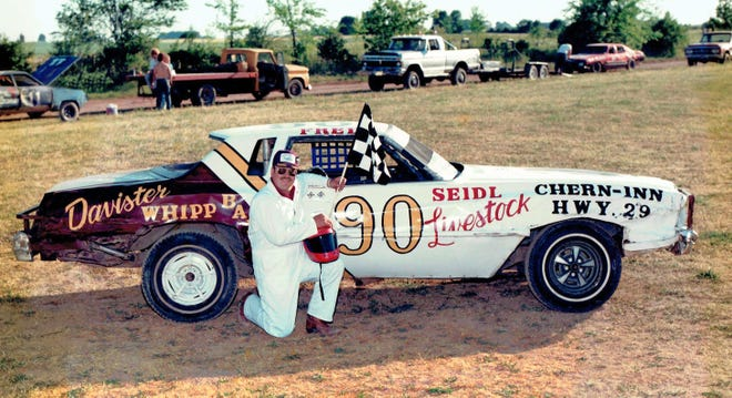 """Freddie """"Andretti"""" Davister of Sugar Bush, shown here after a win in the late 1980s, will be among those inducted into Luxemburg Speedway's Hall of Fame on Friday at the Kewaunee County Fairgrounds."""