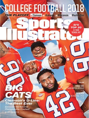 Clemson's starting defensive linemen will be on the cover of Sports Illustrated's College Preview edition on Monday.