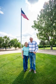 "Farmers/ranchers and champions at the shelter belt, Julie and Dean Reddig plan to stay in the ""middle of nowhere,"" near Lustre. They raised their families here and are seeing their grandchildren grow up on the land."