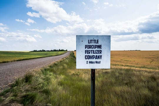 Near Lustre, Tony Fast's grandpa started a fertilizer business on his farm, the Little Porcupine Ranch, but it's fizzled lately.