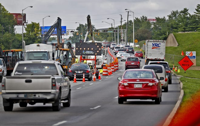 Closed lanes on Fall Creek Parkway near Keystone Ave. reopened to traffic on Thursday afternoon, Aug. 9, 2018.