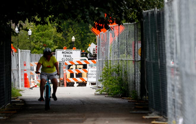 A north-side portion of the Monon Trail could be closed until February due to bridge repairs and maintenance.