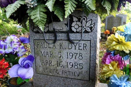 Grave for Paula K. Dyer in Glenwood Cemetery  Wednesday, August 8, 2018. Dyer was raped and murdered by Billy Ray Irick who is scheduled to be executed Thursday.