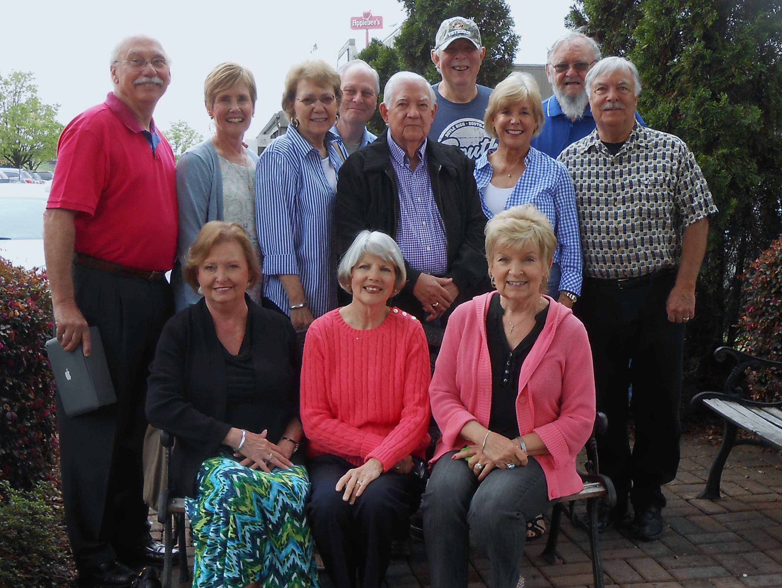 Contributed Photo Members of the South High School class of 1963 from Atlanta and Knoxville met in Chattanooga. Ira Gladson, a guidance counselor who worked at South High School in 1963, also attended. Front row from left are Sheila Satterfield Dunson, Paulette Rhea Anderson and Janice Smith Davis. Second row from left are Gary Anderson, Sharen Glass Brown, Lynda Dunn, Gladson, Brenda Flowers Ooten and Carl Hatfield. Third row from left are Don Roland, Dave Alexander and Bobby Smith. 2015
