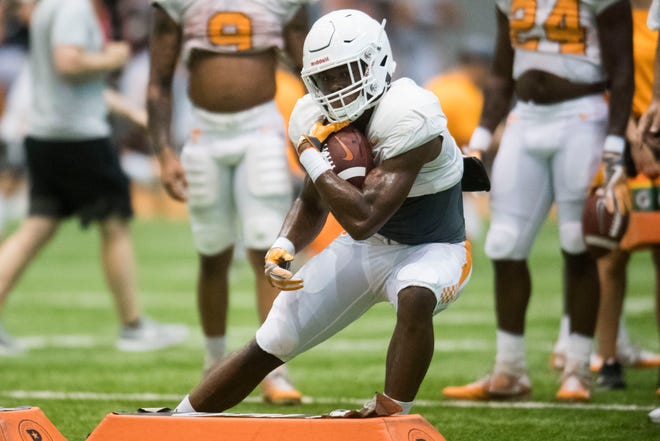 Sophomore running back Ty Chandler has emerged as one of the leading candidates to carry the load in the Tennessee backfield.