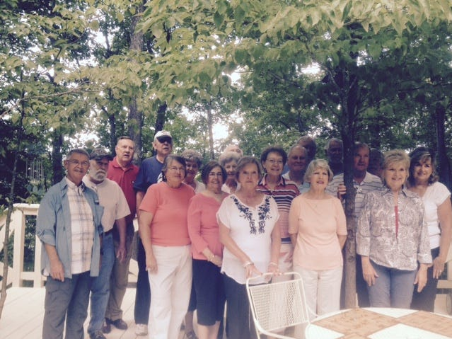 The South High School Class of 1963 held a collective 70th birthday celebration for classmates at the home of Janice and Charlie Davis. Attendees included Sandy Houser, Sharon Woliver, Ginger Pierce Wolfenbarger, Sheila Satterfield Dunson, Paulette Rhea Anderson, Janice Smith Davis, Milton Kenner, Charlie Davis, David Alexander, Sandra Irwin Teffeteller, Donna Ingle Henry, Gary Anderson, Lynda Dunn, Don Roland, Bobby Smith, Bill Webster, Danny Thompson, Carl Hatfield and Carolyn Holt Paxton. 2015