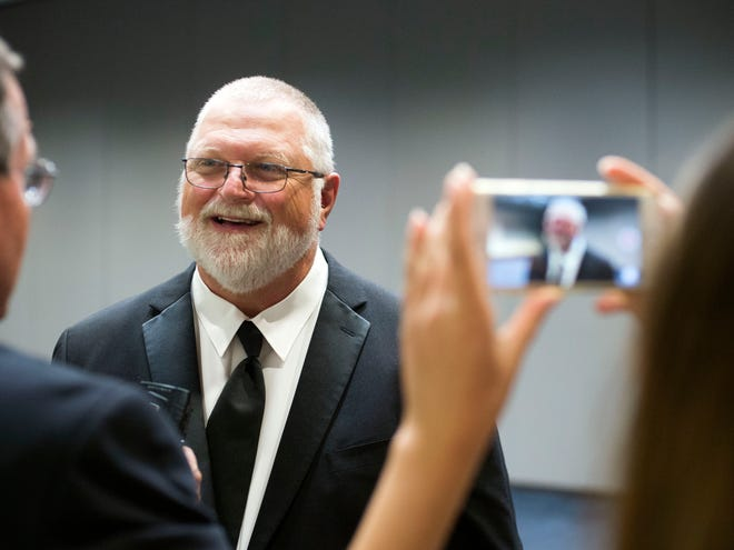 Chris Vandergriff during interviews at the the Greater Knoxville Sports Hall of Fame induction ceremony on Tuesday, August 7, 2018. Vandergriff is the first wrestler to be inducted into the Hall of Fame.