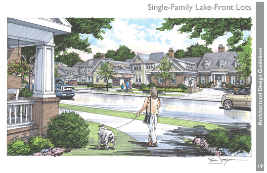 An artist rendering shows a development planned for Tooles Bend Road in southwest Knoxville.