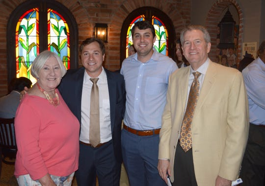 Hon. Frances Bouillion, Michael Domingue, Daniel Gauthier and Hon. David Blanchet
