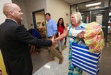 New Bullitt County Superintendent Jesse Bacon visits Pleasant Grove Elementary on first day of school