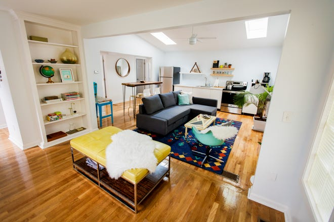 An Airbnb unit owned by Bed and Bike. Guests get free bikes from Parkside Bikes, owned by the same couple.