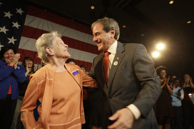 John Yarmuth and his mother, Edna, celebrate his re-election as the U.S. House of Representatives from Kentucky's 3rd district.
