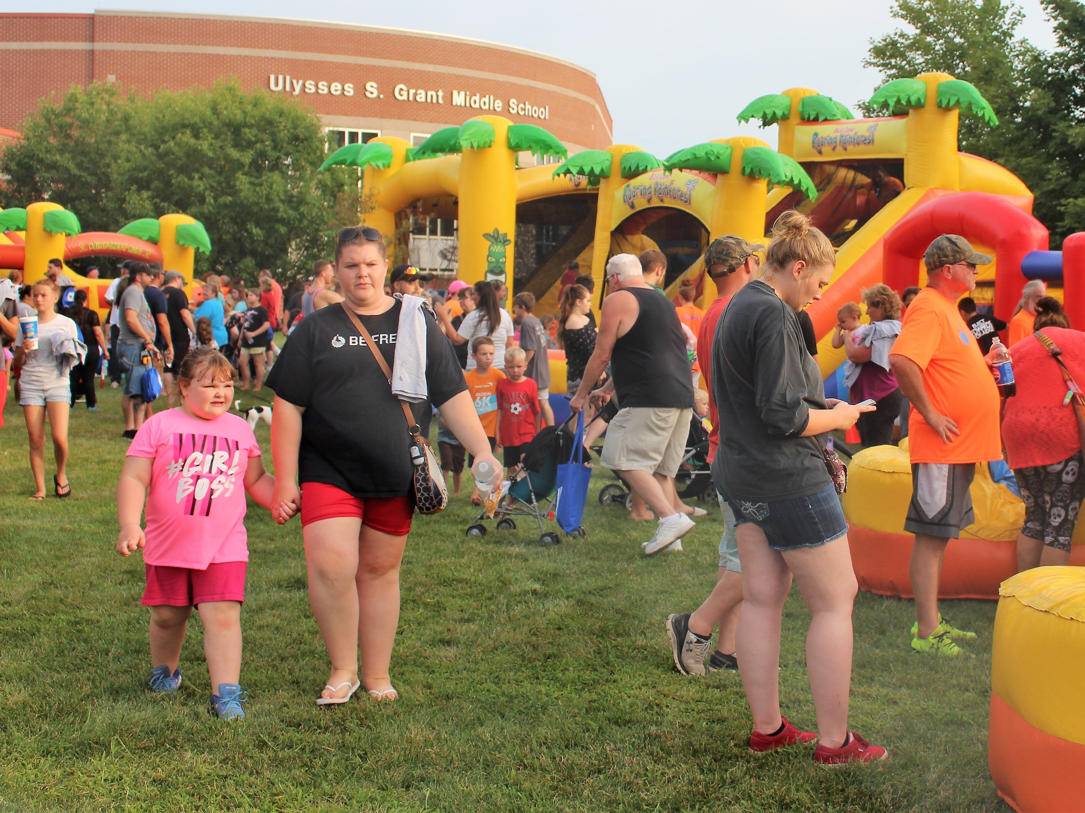 The event on Tuesday included food trucks, bouncy houses and information booths for the Marion County Sheriff's Office, county fire departments and Marion City Schools.