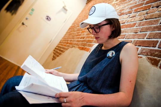 Director Vivian Gray works on the set of her as-yet-untitled short film made possible thanks to a grant from Indie Memphis on Aug. 7, 2018.