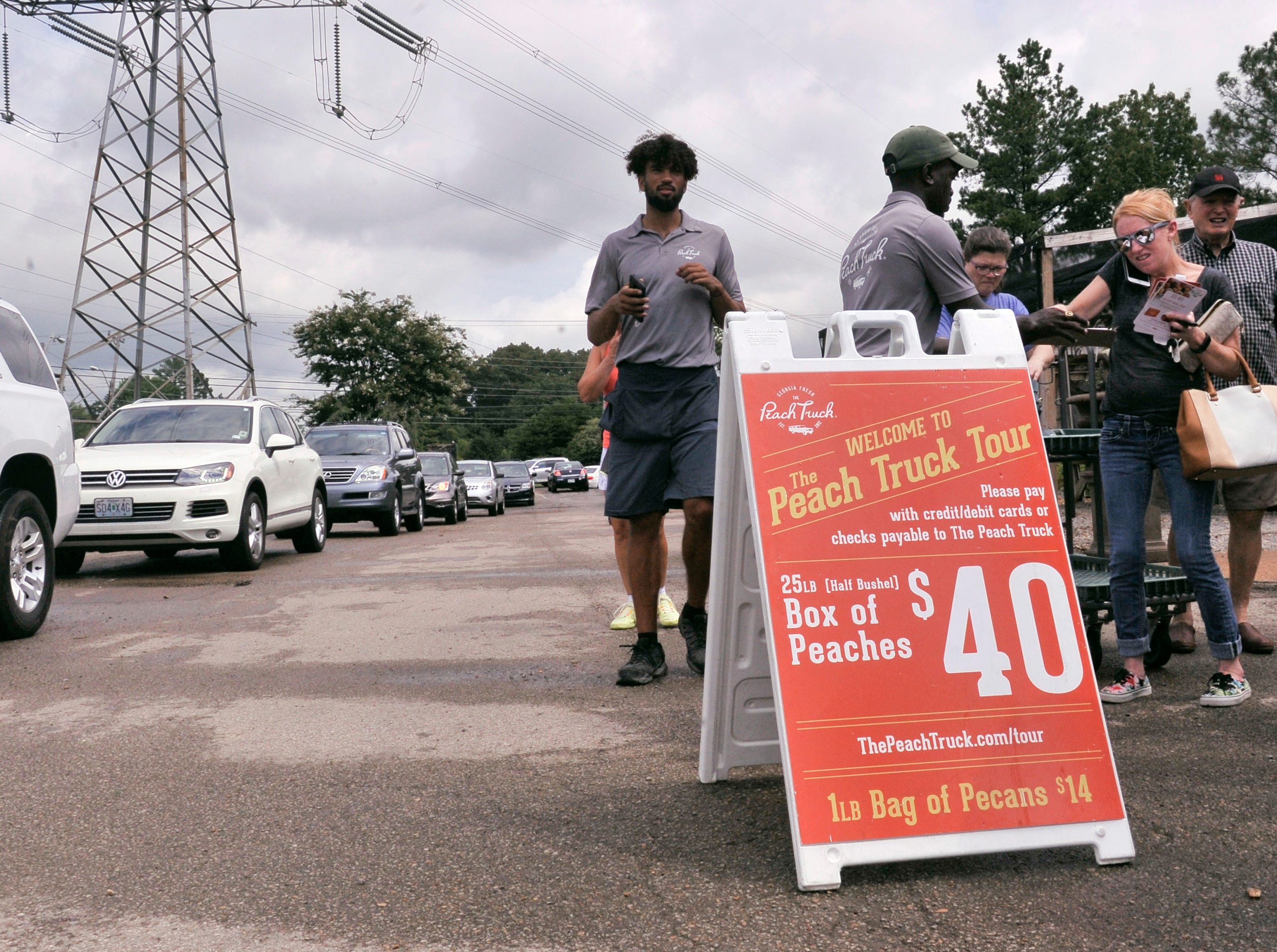 The Peach Truck visited Germantown on Wednesday.