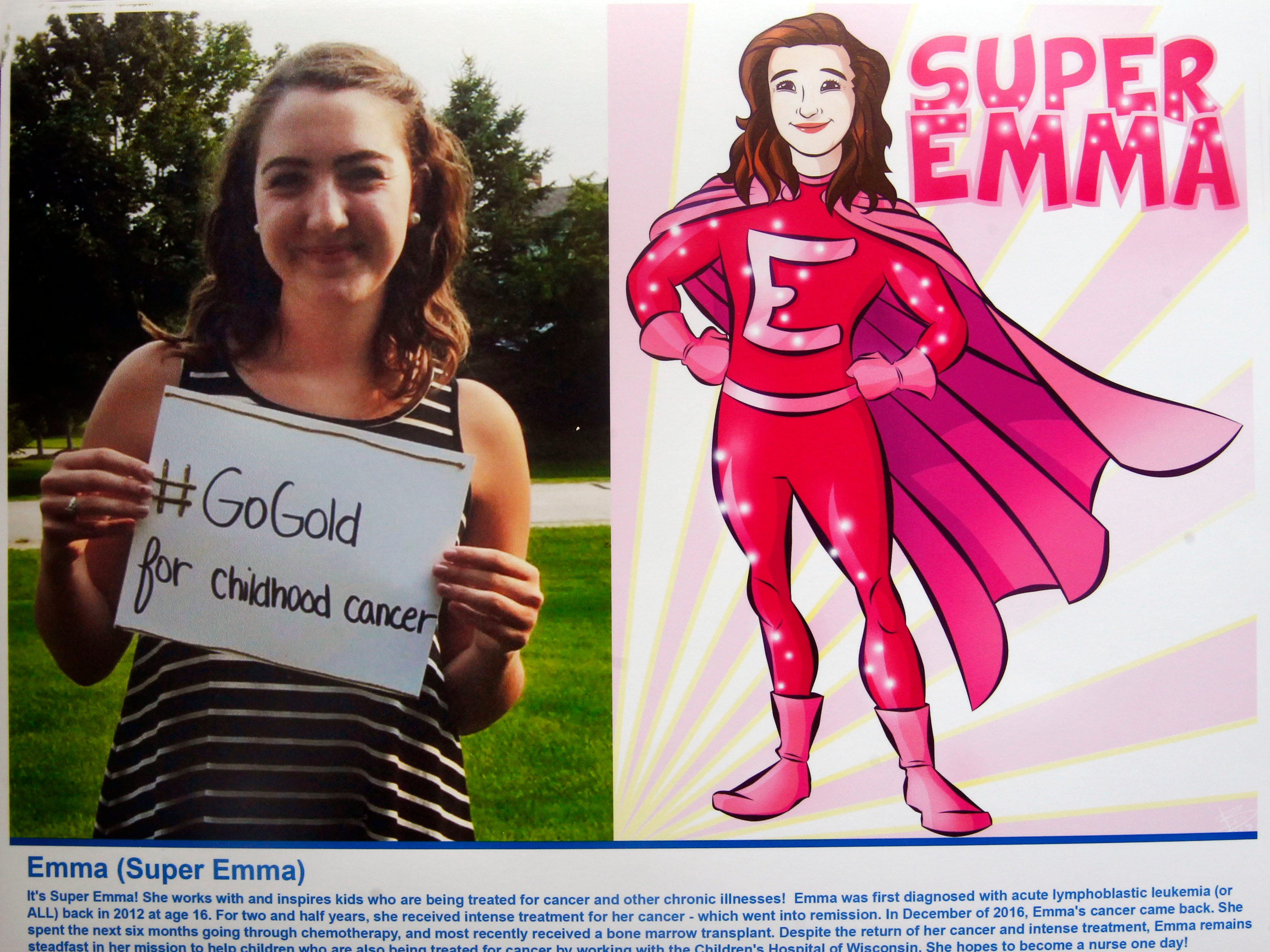 Super Emma is a superhero identity created by Bryan Dyer, owner of You Are the Hero.