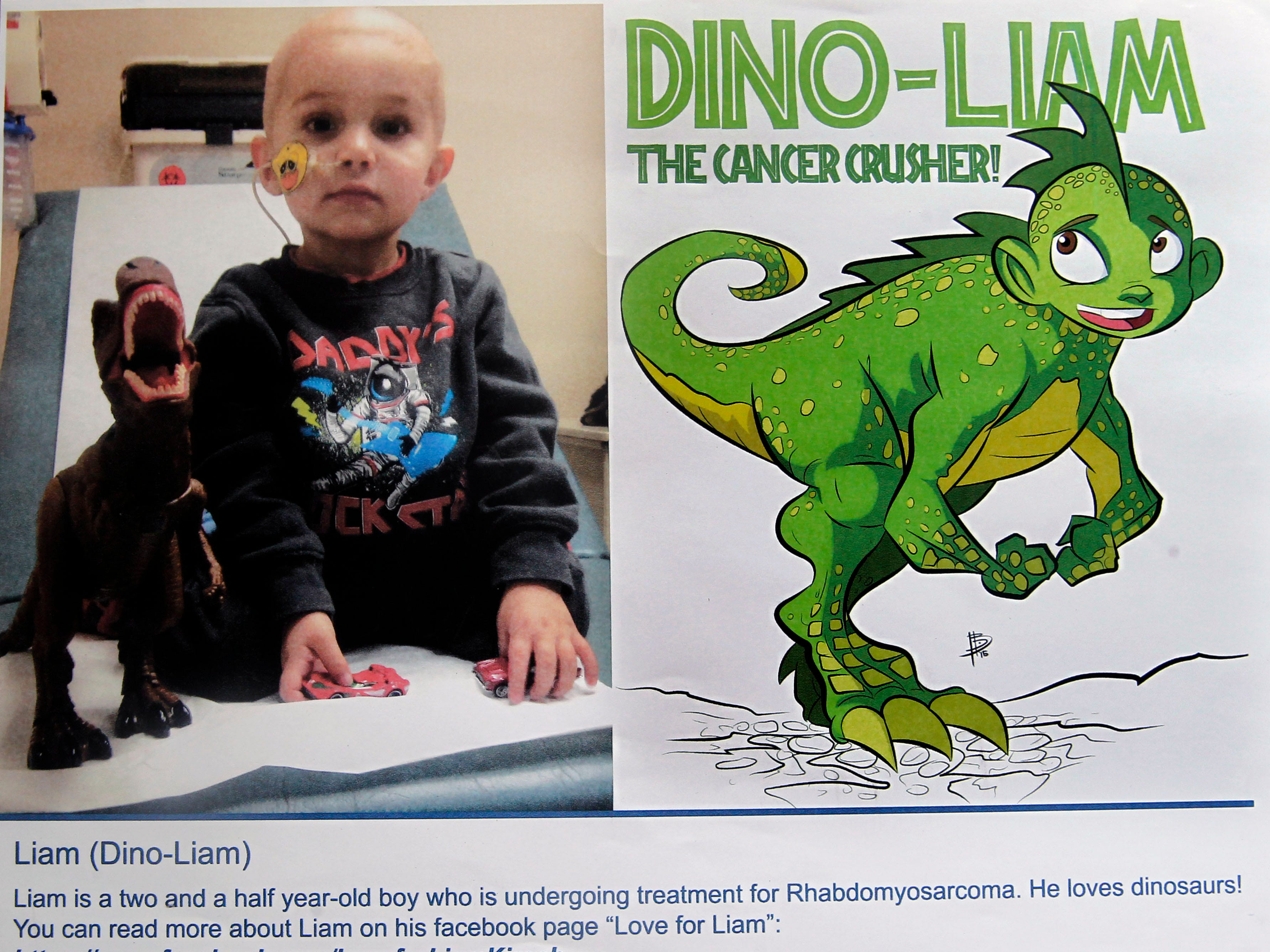 Dino-Liam is another superhero identity created by Bryan Dyer, owner of You Are the Hero.