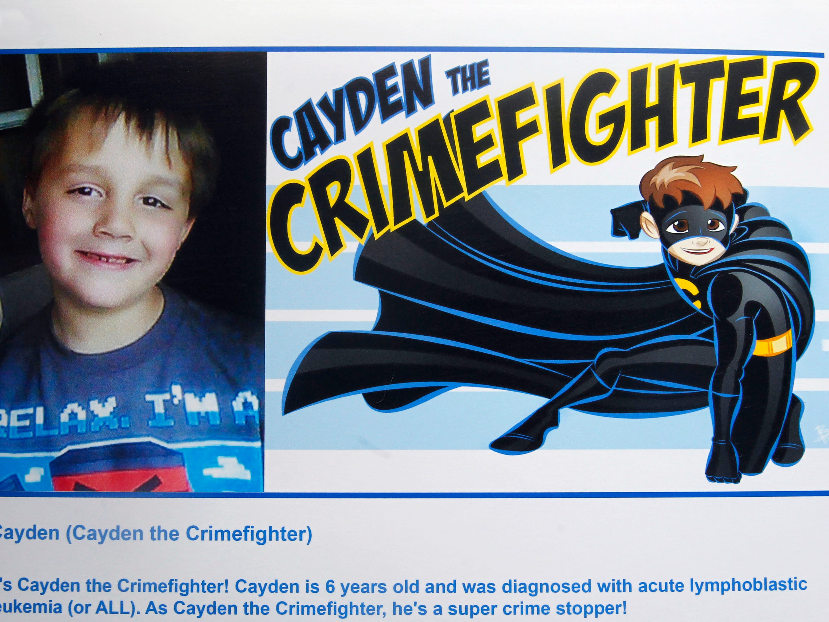 Cayden the Crimefighter is a superhero identity created by Bryan Dyer, owner of You Are the Hero.