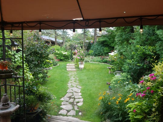 The view from the Voisin's backyard deck that so many visitor's on the garden tour enjoyed.