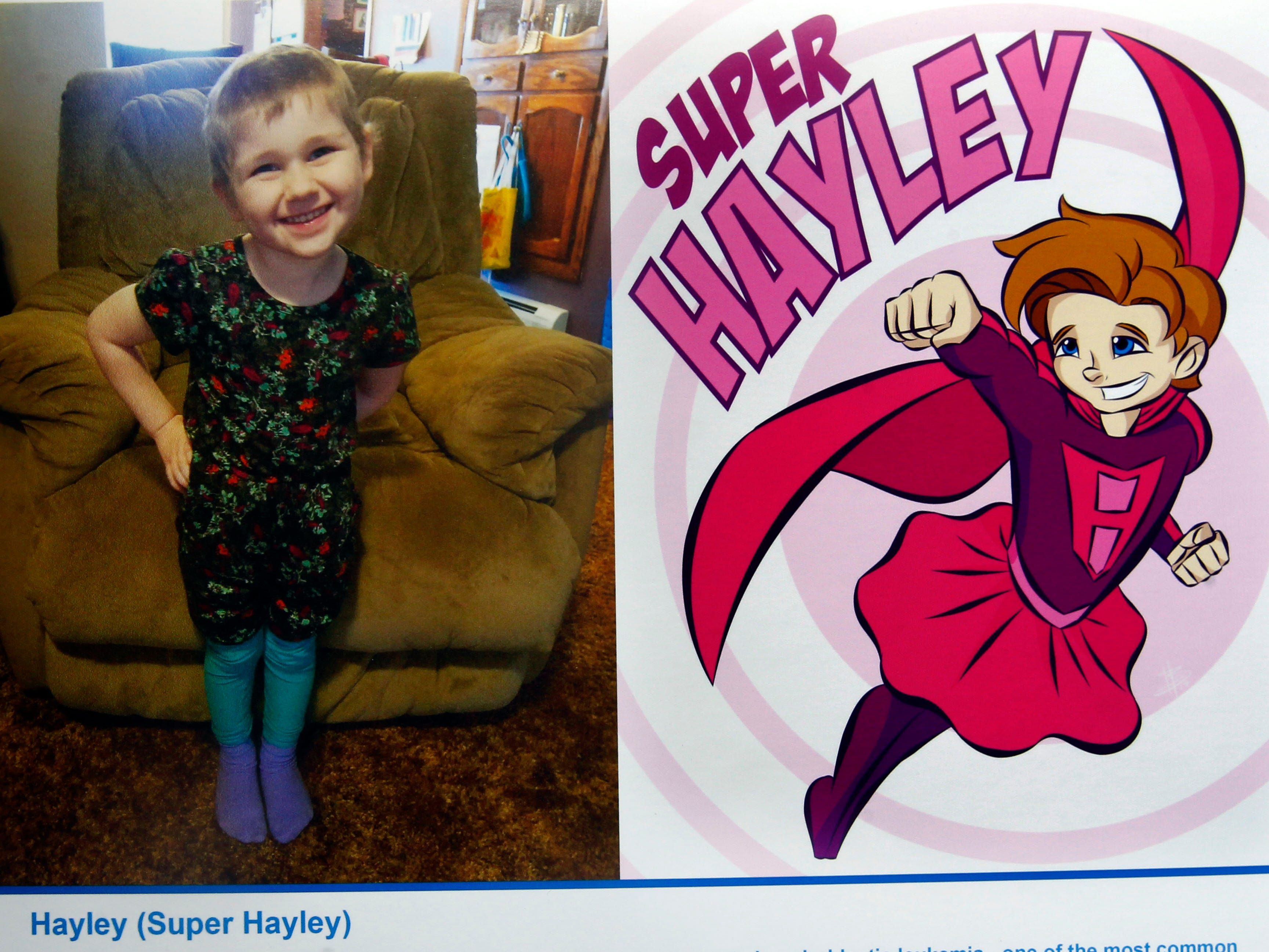 Super Hayley is a superhero identity created by Bryan Dyer, owner of You Are the Hero.