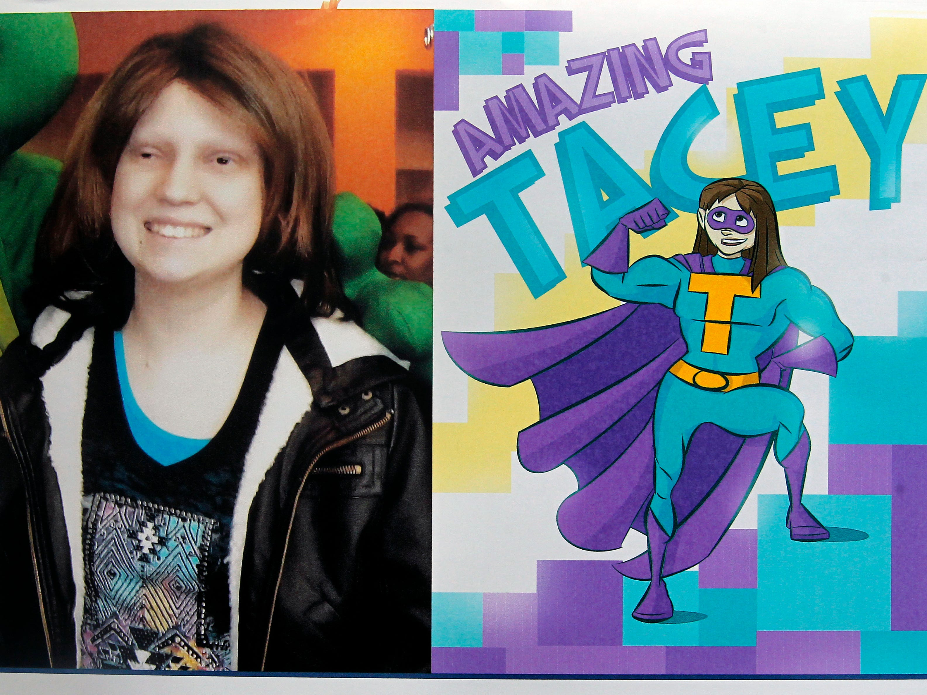 Amazing Tacey is a superhero identity created by Bryan Dyer, owner of You Are the Hero.