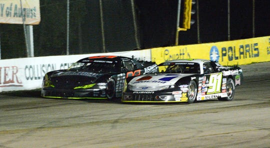 Dan Fredrickson (left) and Ty Majeski are past Midwest Tour champions who chould be contenders Sunday.