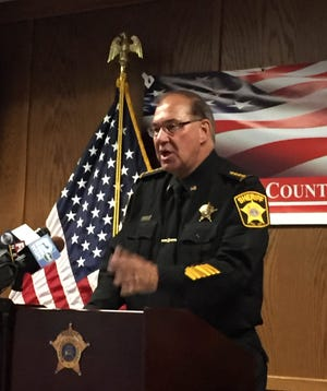 Milwaukee County Acting Sheriff Richard Schmidt said Wednesday his deputies do not enforce federal immigration laws and do not question citizens about their immigration status. Schmidt spoke at a news conference at the Safety Building.