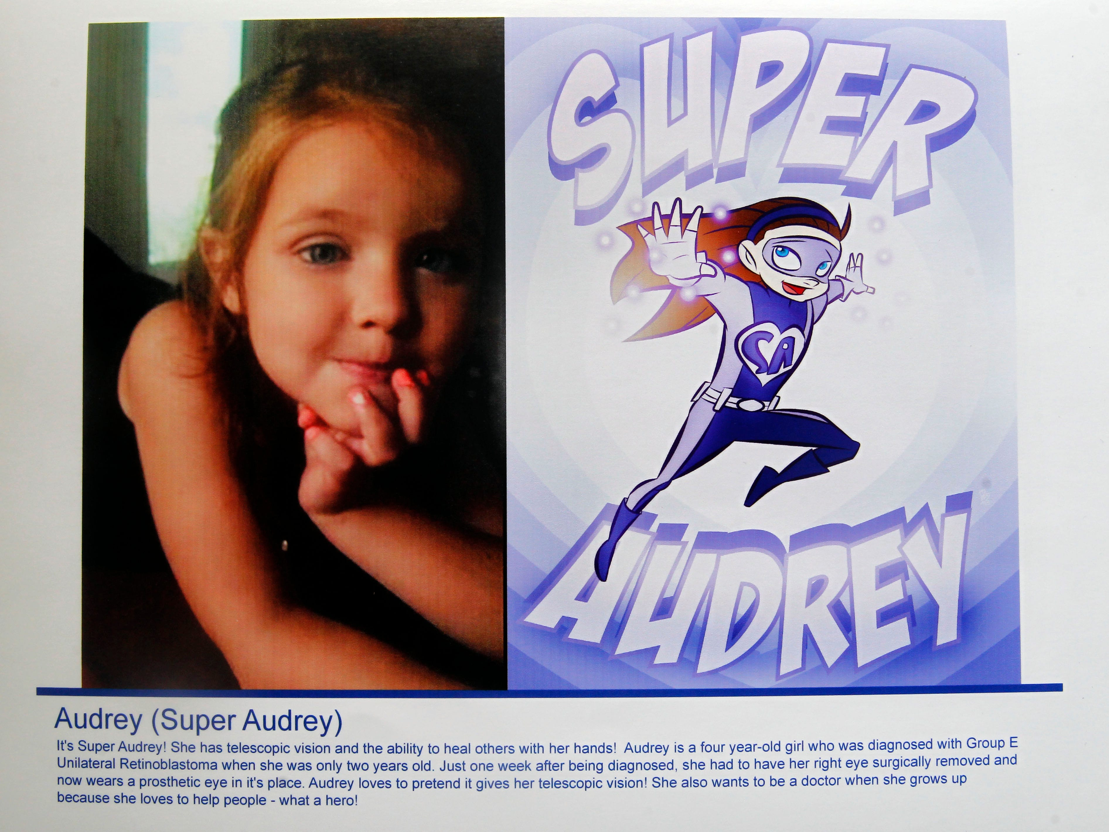 Super Audrey is a superhero identity created by Bryan Dyer, owner of You Are the Hero.