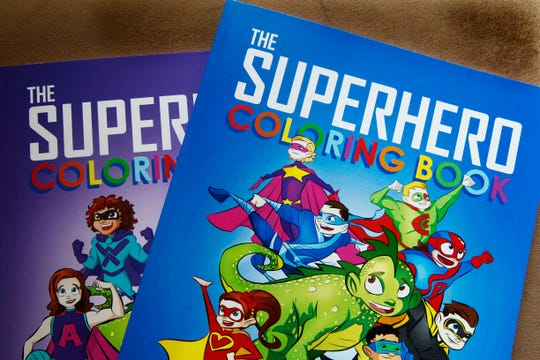 The Superhero Coloring Book was  created by Bryan Dyer, an illustrator for  kids with chronic or critical conditions.