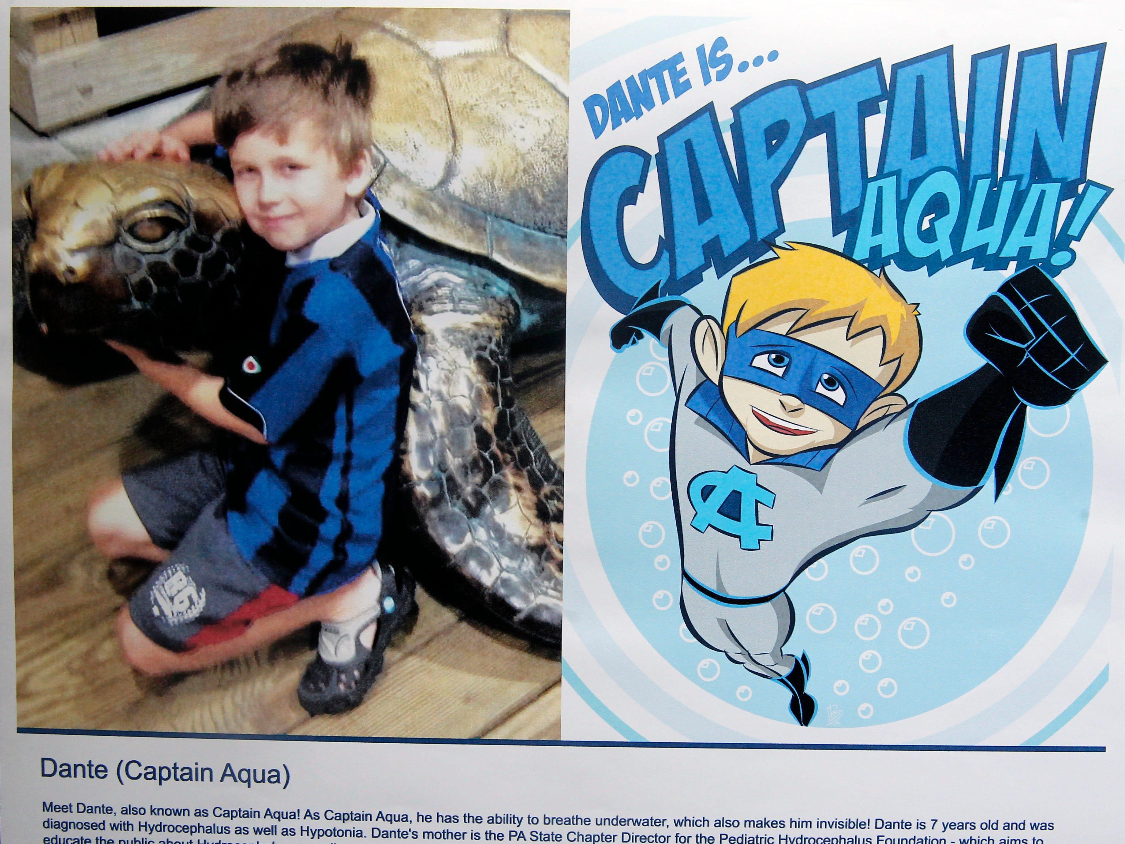 Captain Aqua is Dante's superhero identity.
