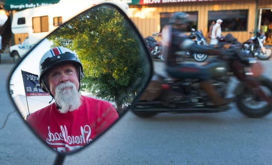 Longtime motorcyclist Jack Vinson of Jacksonville, Tenn., attends the Sturgis Motorcycle Rally in Sturgis, S.D.