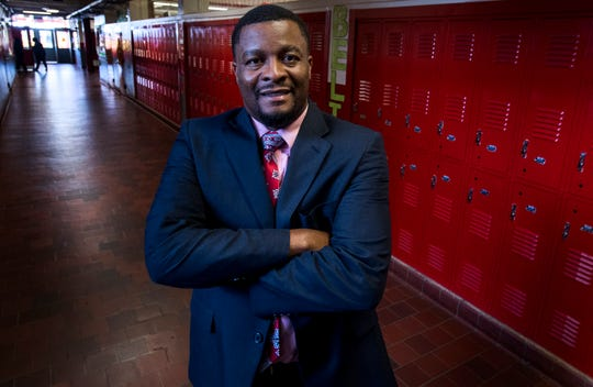 Goodwyn Middle School Principal Curtis Black is seen at the school in Montgomery, Ala. on Wednesday August 8, 2018.