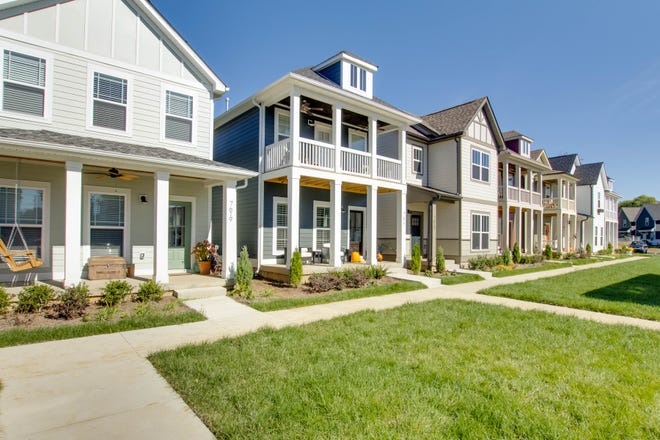 A recently built strip of residences designed for first-time homebuyers in Antioch.