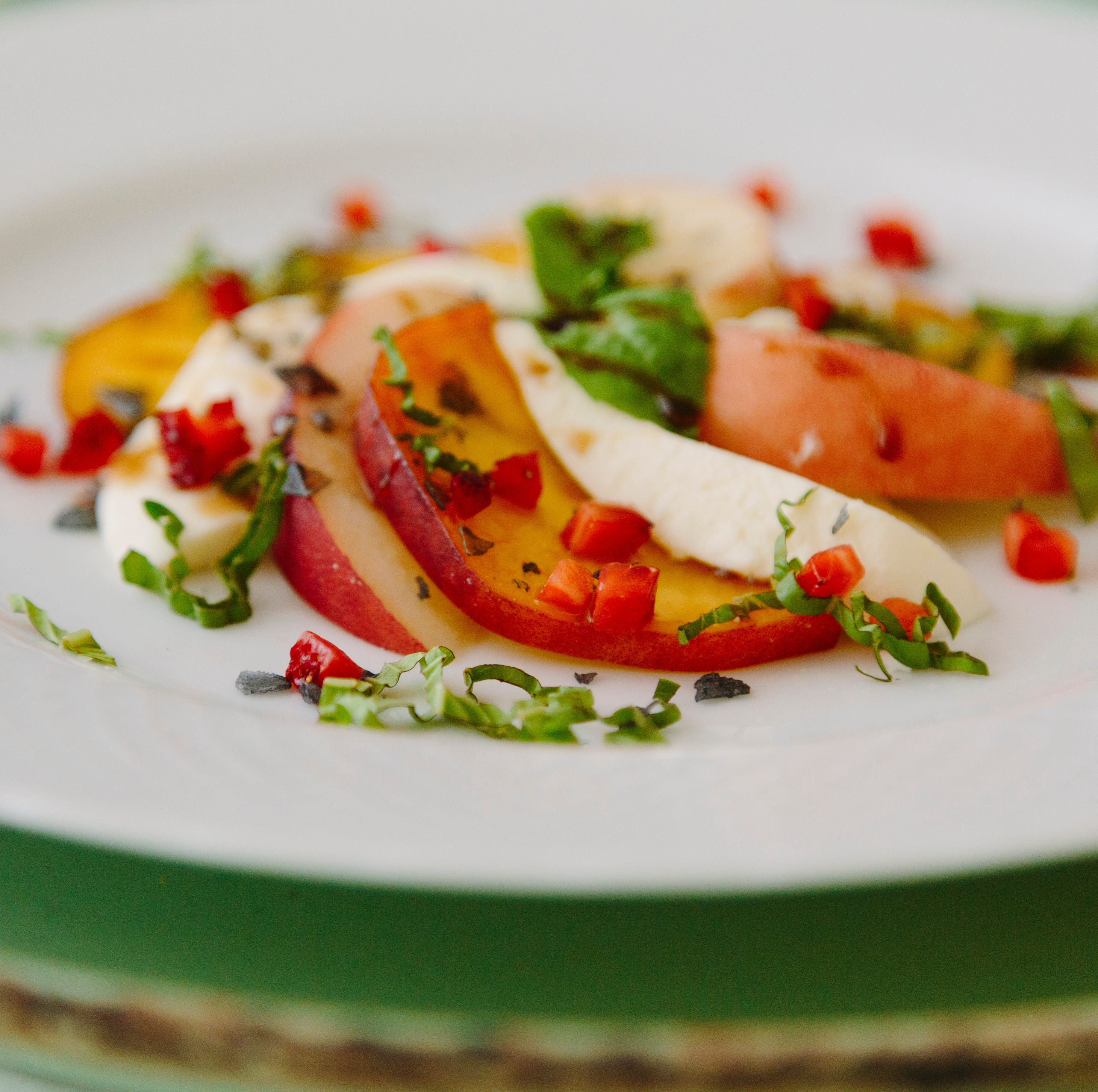 Peach caprese salad from Chef's Market.