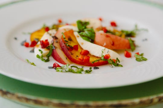 Peach caprese salad from Chef's Market.