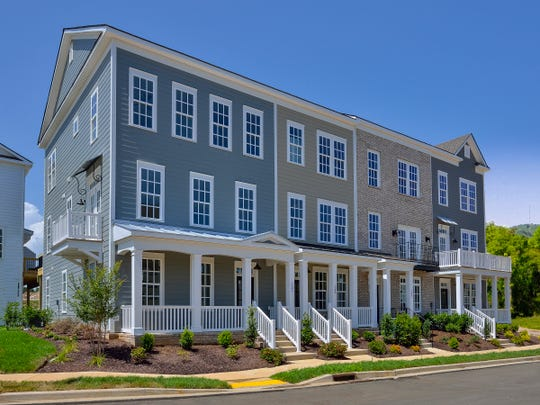 Regent Homes' townhomes in Burkitt Commons are designed to be visually appealing.