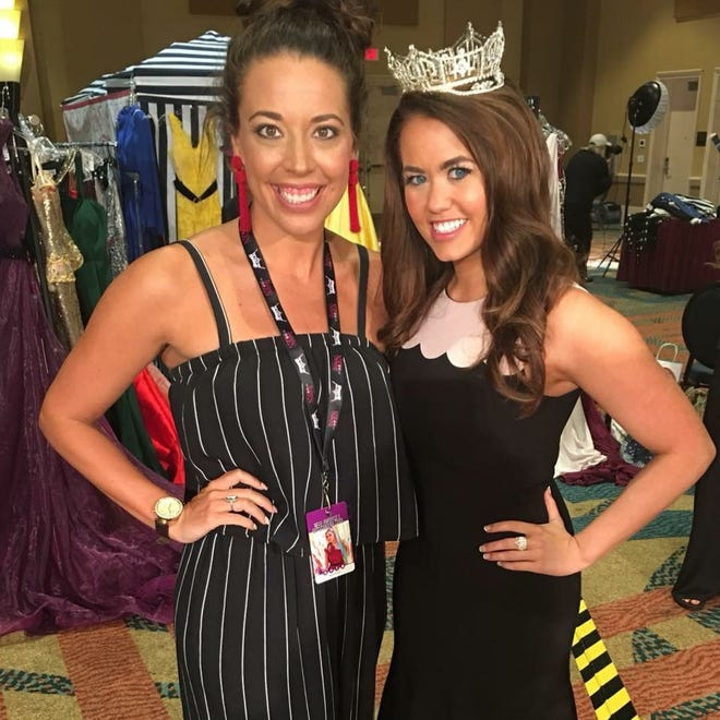 Hollie Alexander, director of the Miss Gallatin Scholarship Pageant, left, pictured with Miss America 2018 Cara Mund.