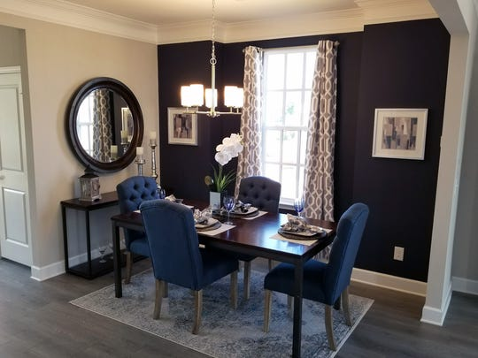 The dining area of a townhome built by Regent Homes.