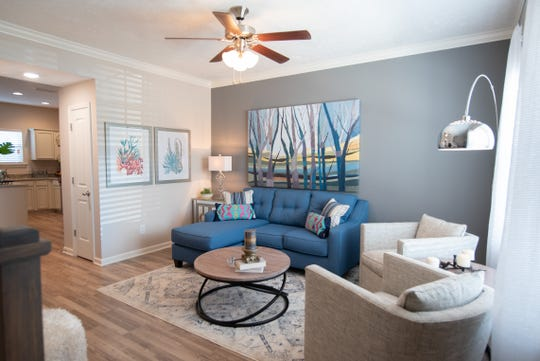 The living area of a residence at Ole South's Villas at Indian Creek.