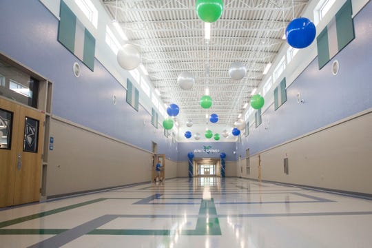 After a year and a half of construction, Bonita Springs High School prepares to open its doors to the brand new campus for the upcoming school year, starting with a walkthrough event for parents and students on Wednesday, Aug. 8, 2018.